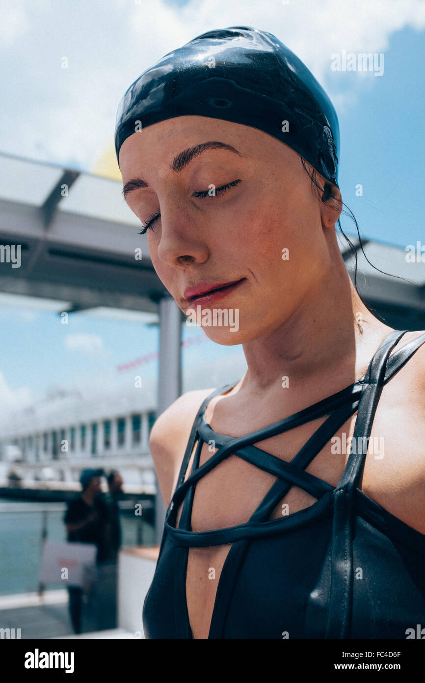Carole A. Feuerman swimmers sculpture - Stock Image