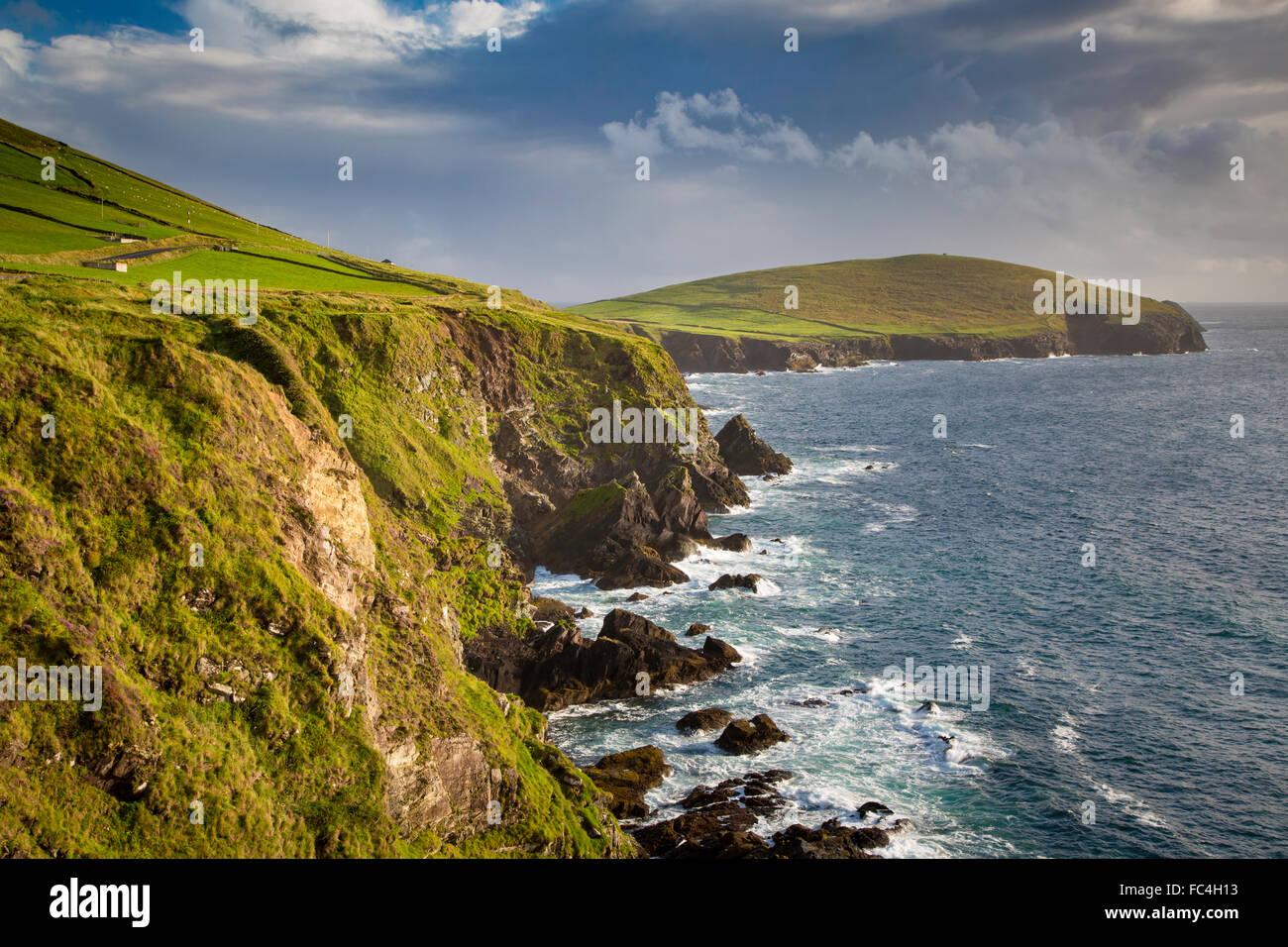 View toward Slea Head, Dingle Peninsula, County Kerry, Ireland. - Stock Image