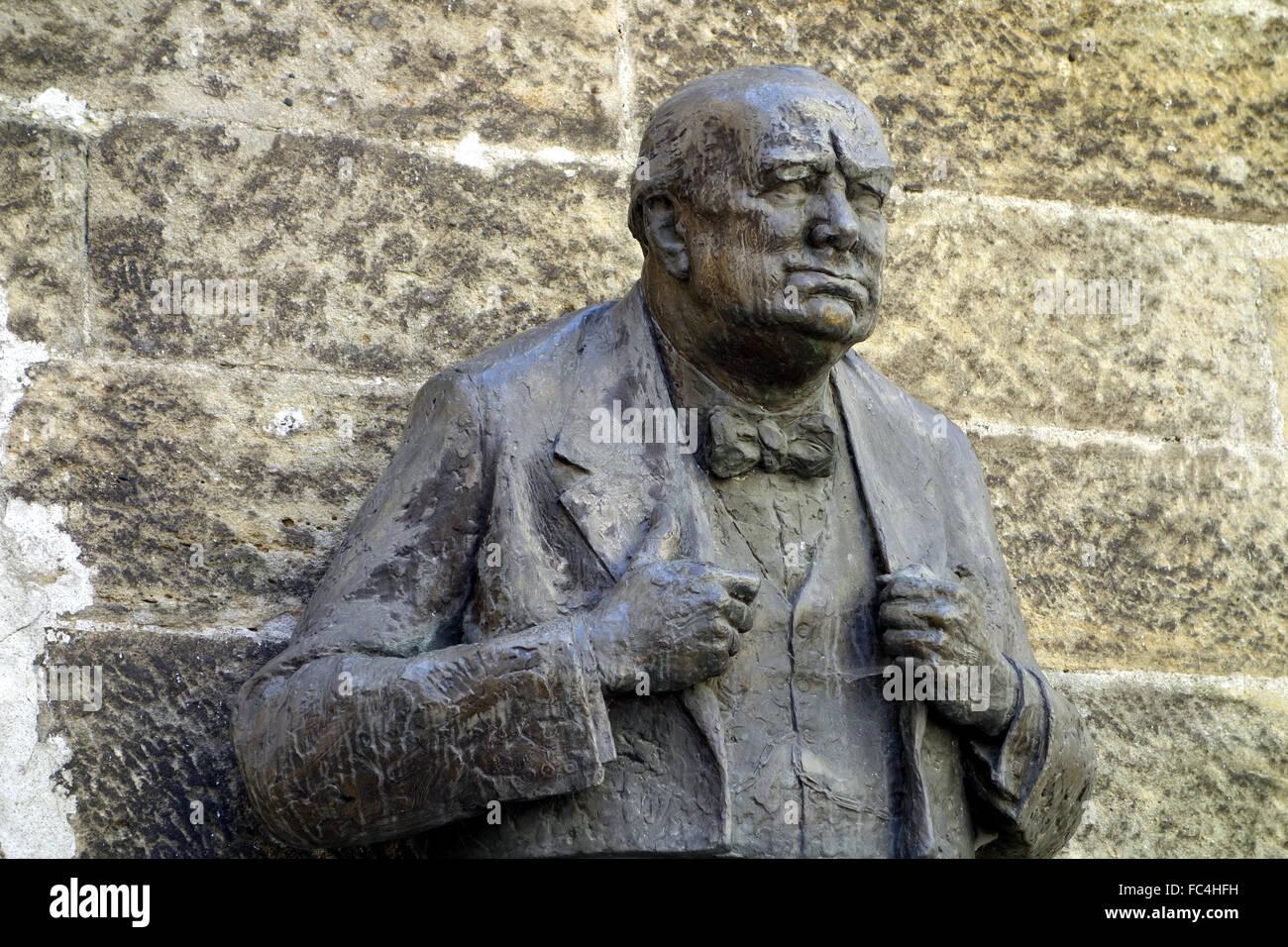 Sir Winston Leonard Spencer-Churchill - Stock Image