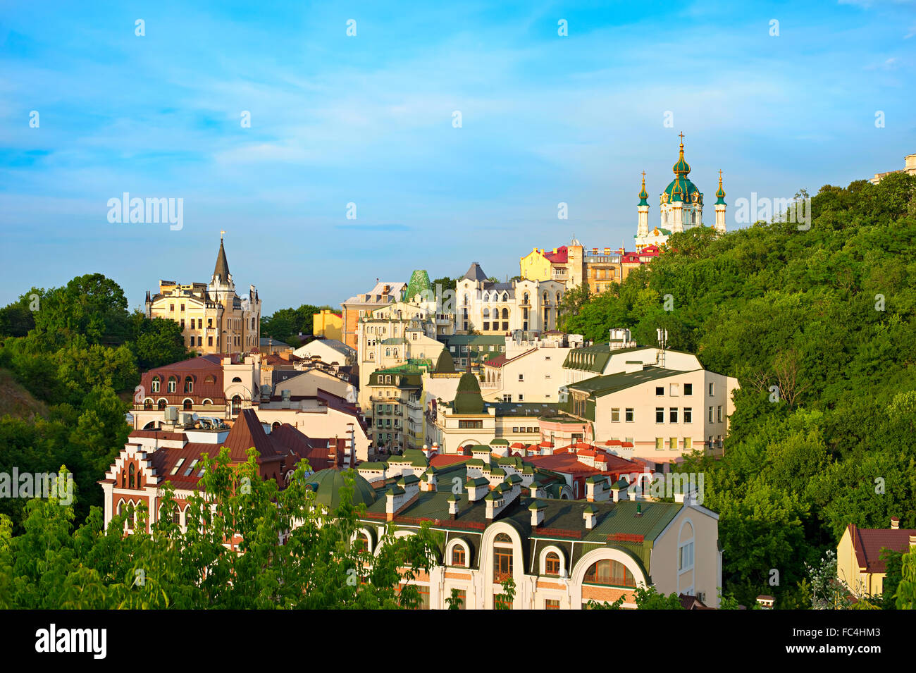 Andreevsky descent, Kiev, Ukraine - Stock Image