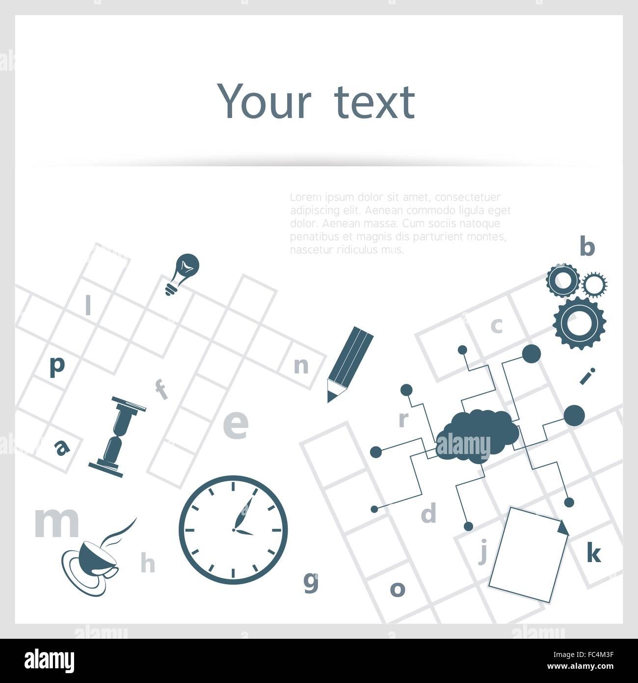 Crossword Background Stock Vector Art Illustration Image