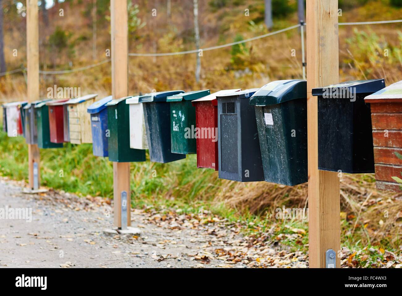 Mailboxes, Sweden Stock Photo