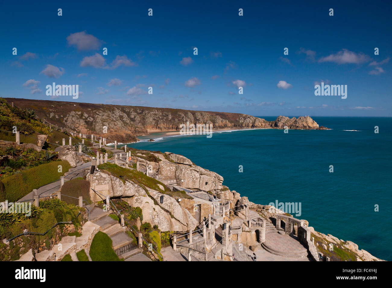 The Minack Theatre, Porthcurno, Penzance, Cornwall, South West, UK - Stock Image