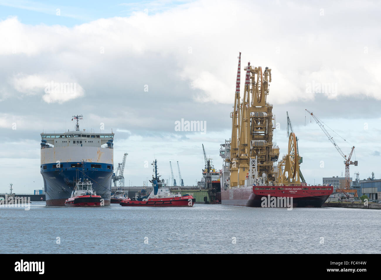 Vessel Courage and Ceona Amazon - Stock Image