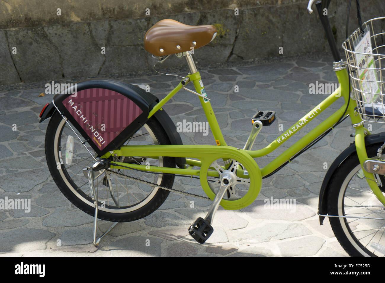 city bike Kanazawa Japan - Stock Image