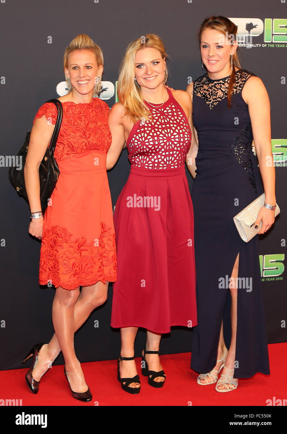 BBC Sports Personality Of The Year 2015 held at Odyssey Arena - Arrivals  Featuring: Guests Where: Belfast, United - Stock Image