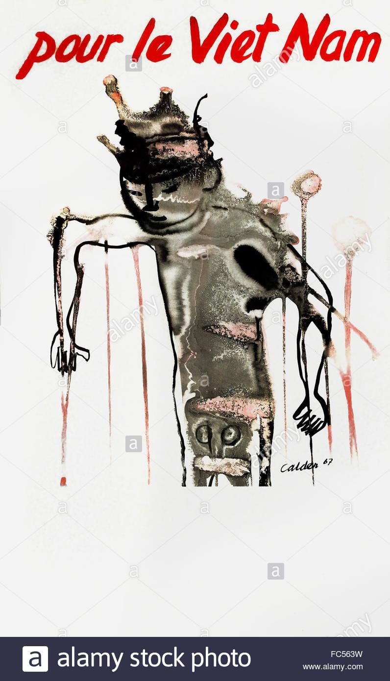 Pour Le Vietnam - For Vietnam 1967 Alexander Calder 1898 –1976American United States of America USA - Stock Image