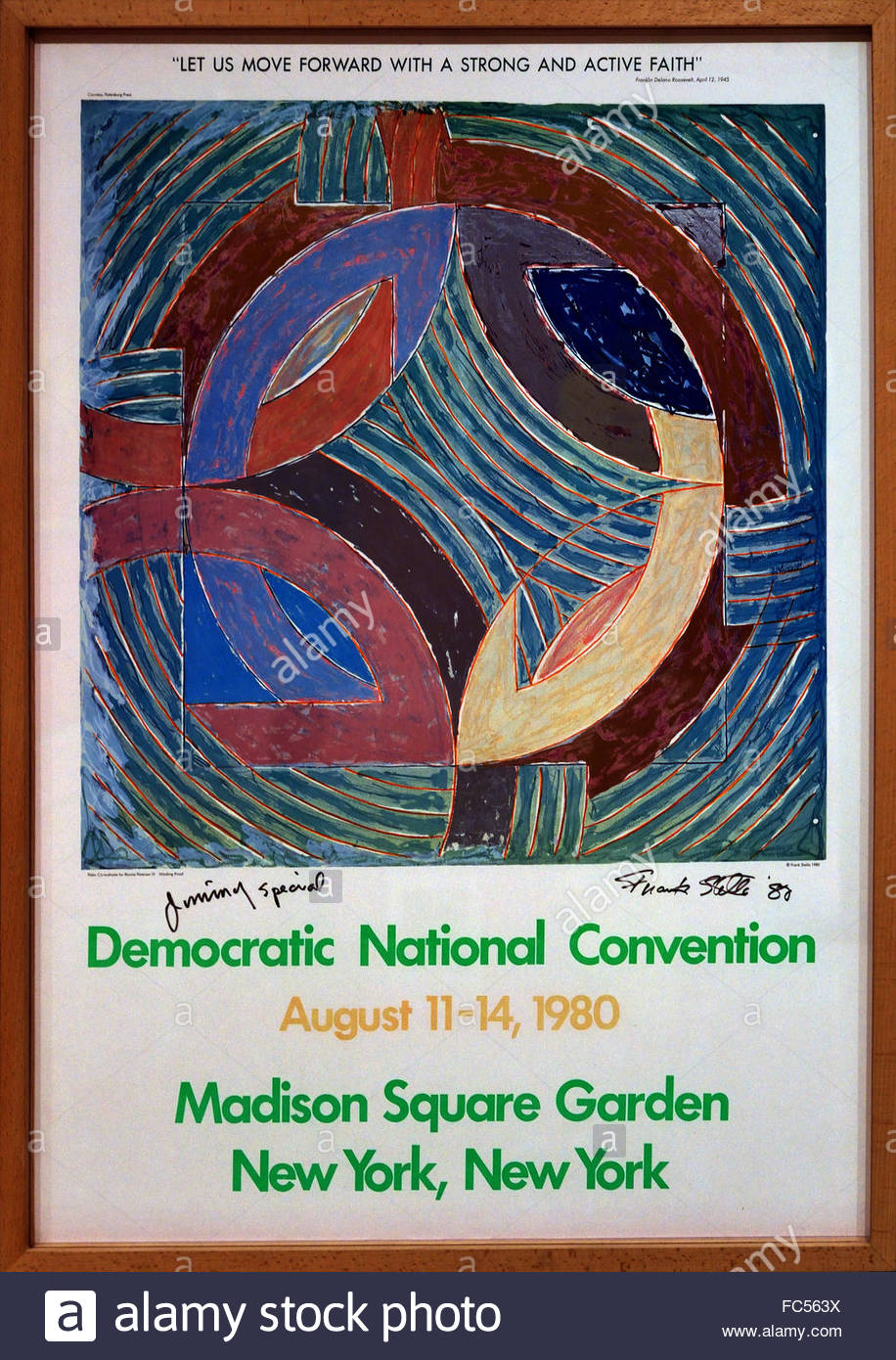 Democratic National Convention New York -  Madison square Garden 1980 Frank Stella1936 Sculptor American United - Stock Image