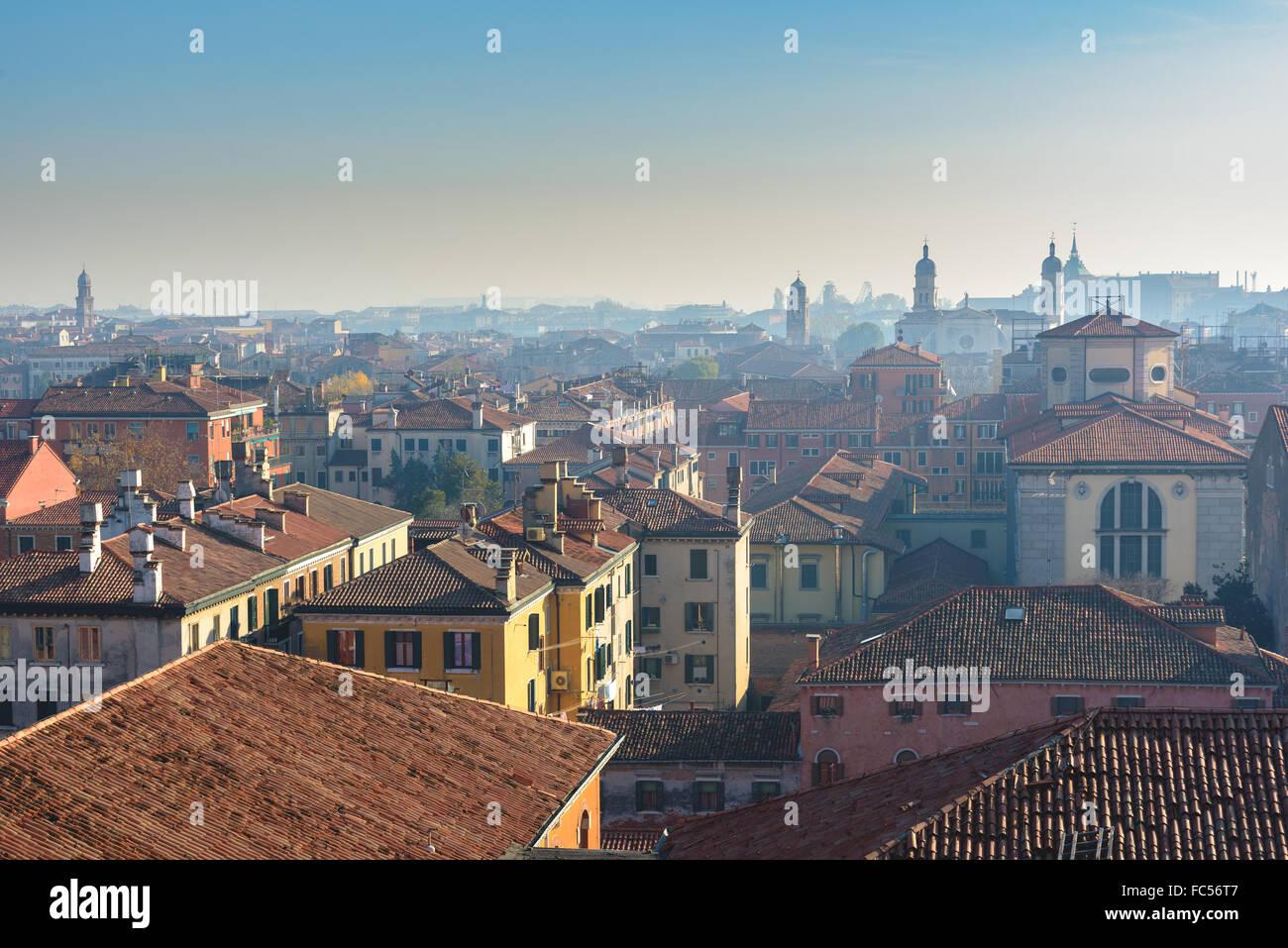 Venetian street life. Venice, Italy - Stock Image