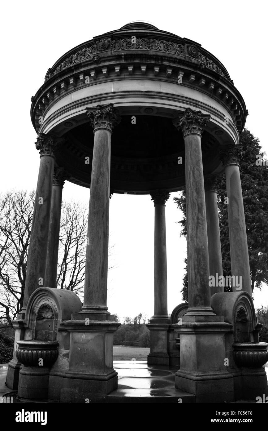 Barran's Fountain in Roundhay Park Leeds. Stock Photo