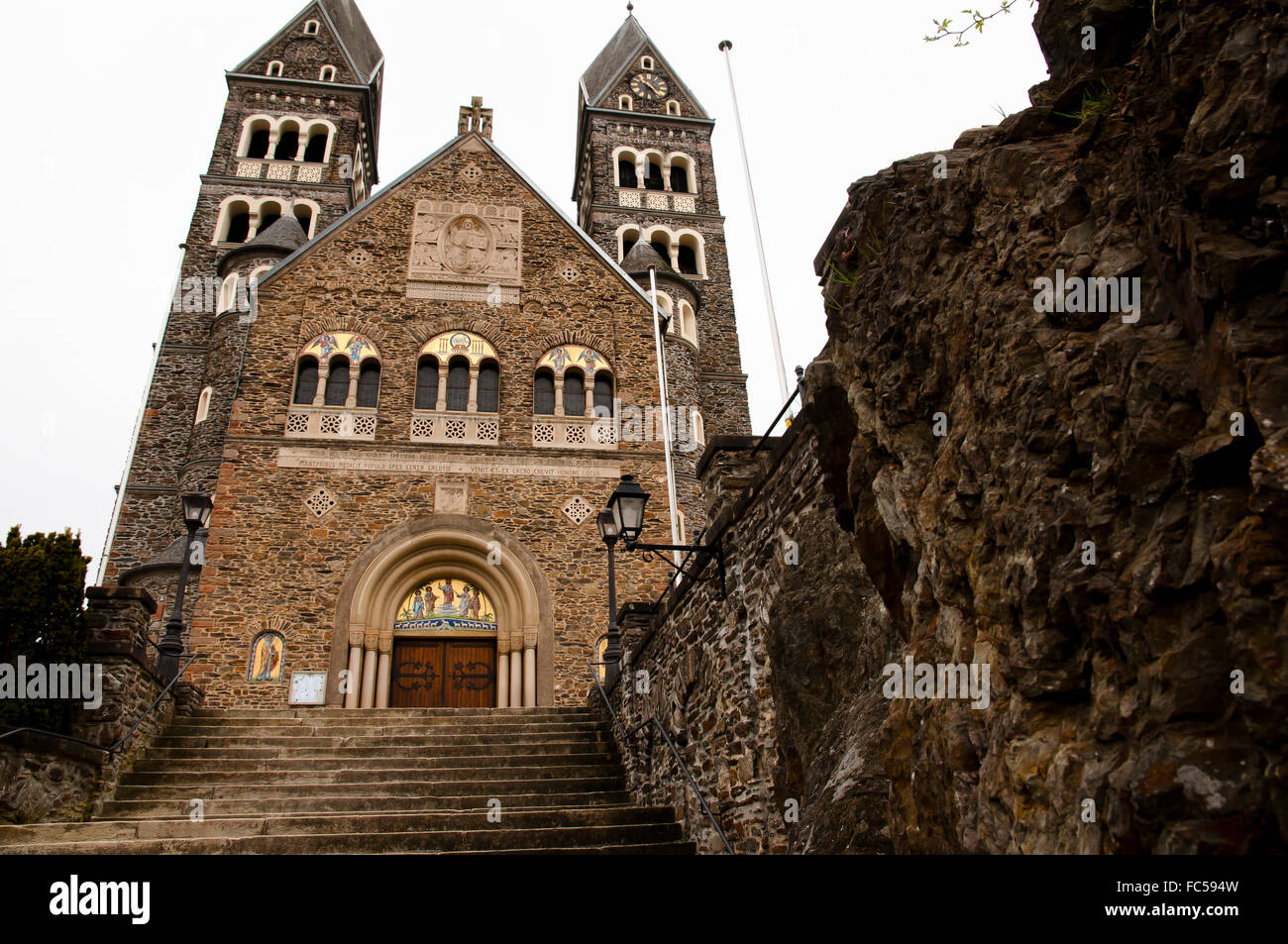 Saints Cosmas and Damian Church - Clervaux - Luxembourg - Stock Image
