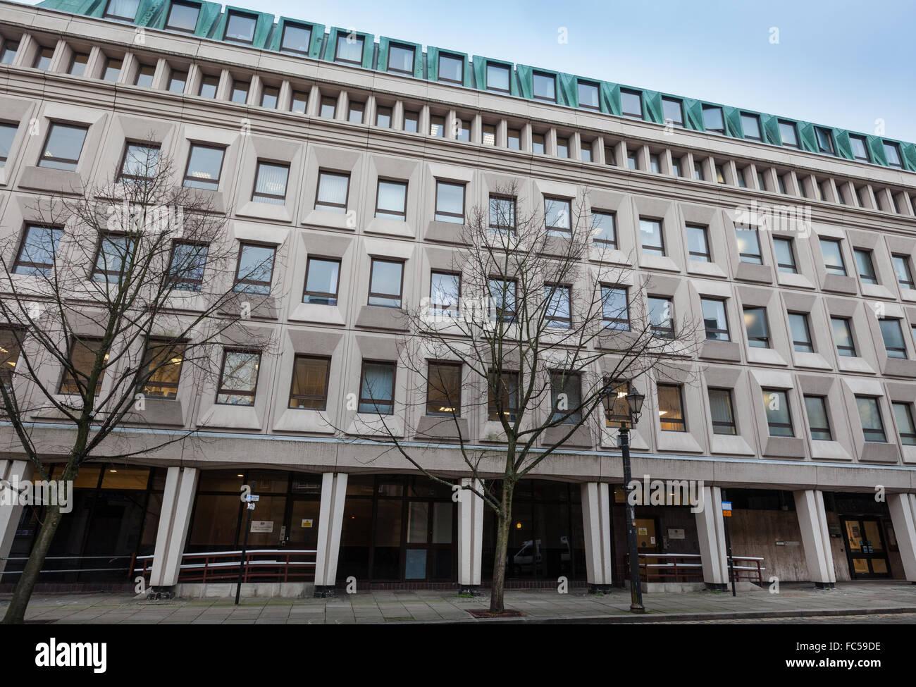 Bolton Coroners Court, Paderborn House, Bolton, UK - Stock Image