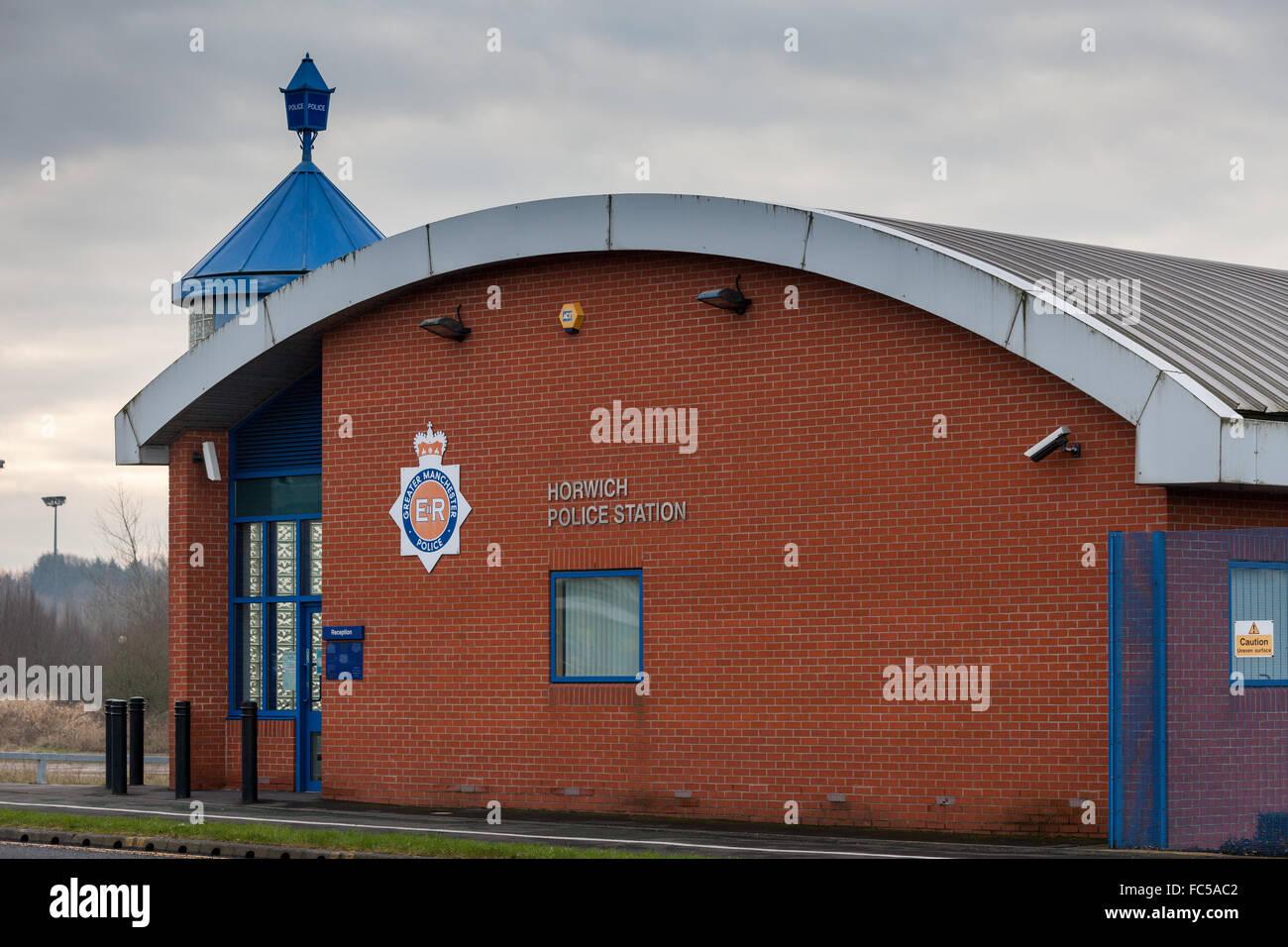 Horwich police station, Bolton, UK - Stock Image