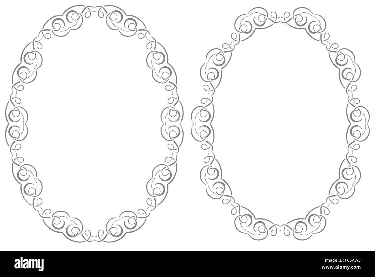 Set openwork vector frame - Stock Image