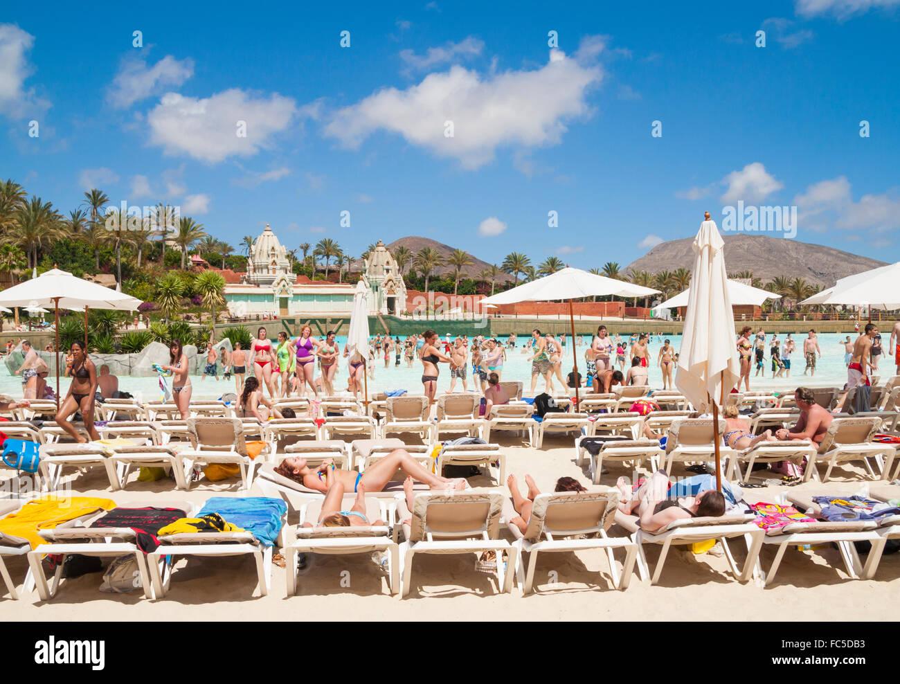 Siam Park water park near Playa de Las Americas on Tenerife, Canary Islands, Spain - Stock Image