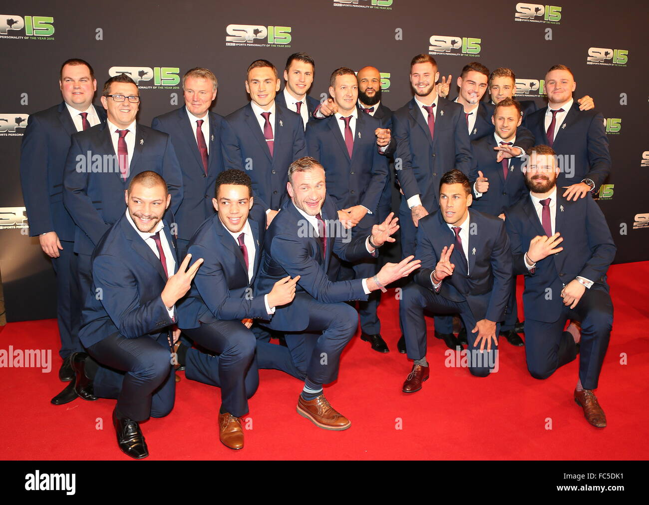 BBC Sports Personality Of The Year 2015 held at Odyssey Arena - Arrivals  Featuring: Leeds Rhinos Where: Belfast, - Stock Image