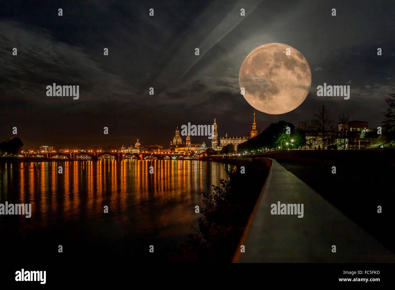 Big Moon - Stock Image