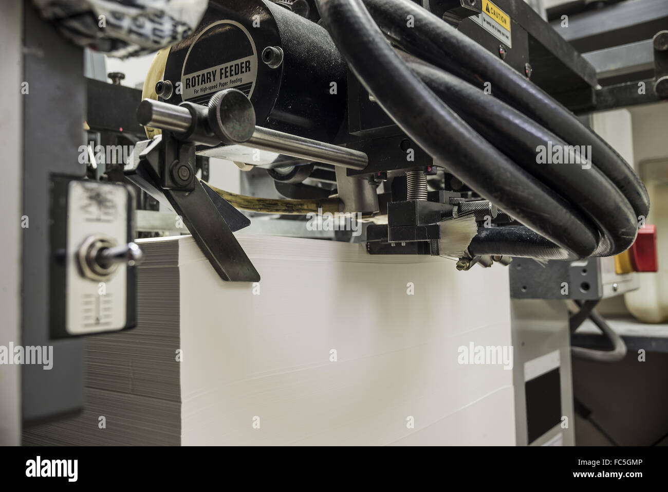 sheetfed offset printing machine - Stock Image