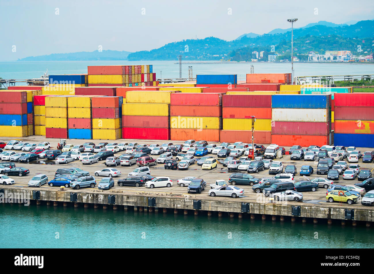 Batumi sea port. Georgia - Stock Image