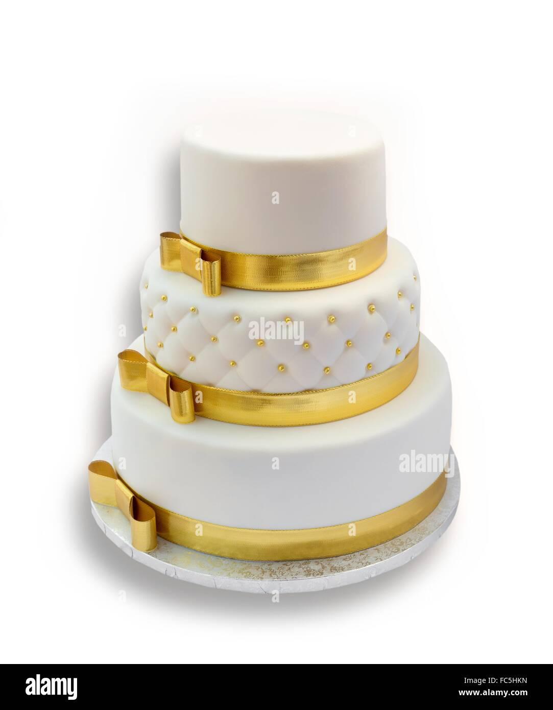 Gold Wedding Cake Stock Photos & Gold Wedding Cake Stock Images - Alamy
