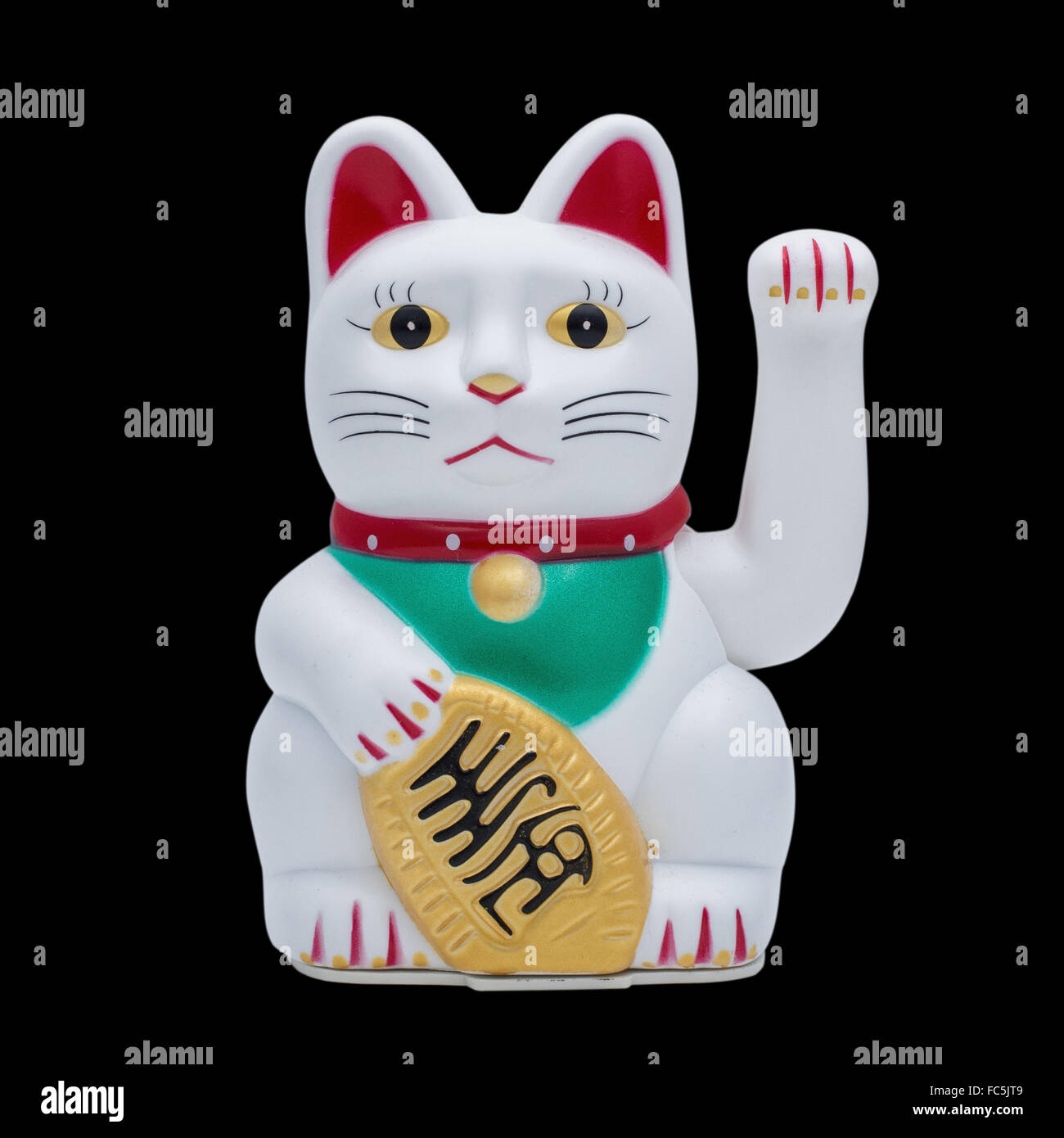 isolated fortune or lucky cat - Stock Image