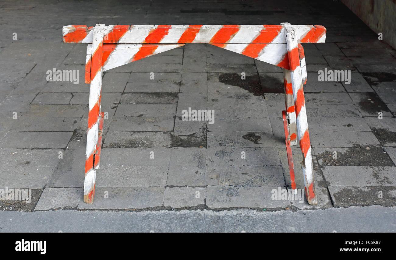 Traffic Barricade - Stock Image