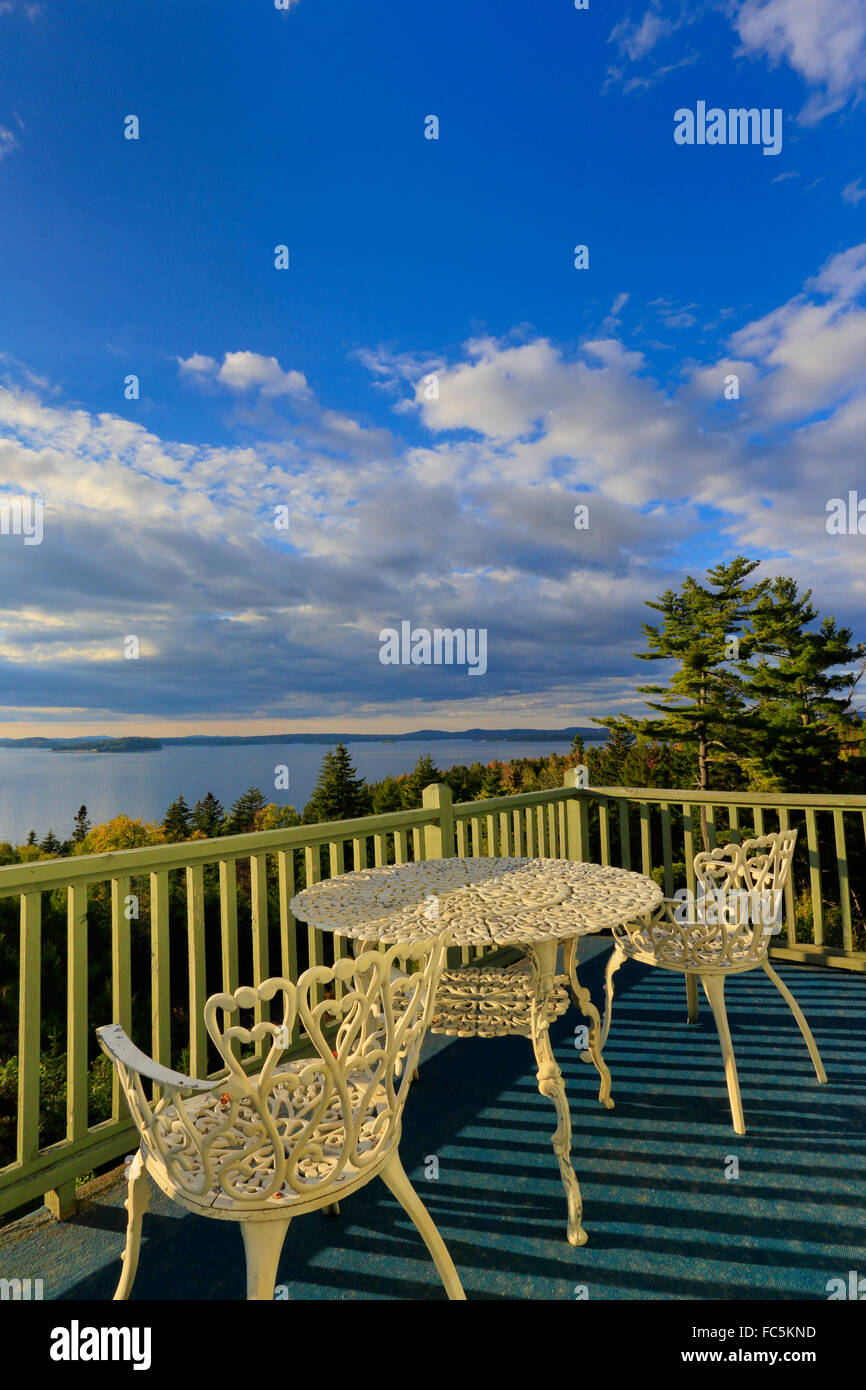 Sunset, Bluff House, Gouldsboro, Maine, USA - Stock Image