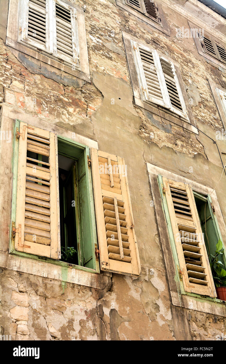 facade of a residential building - Stock Image