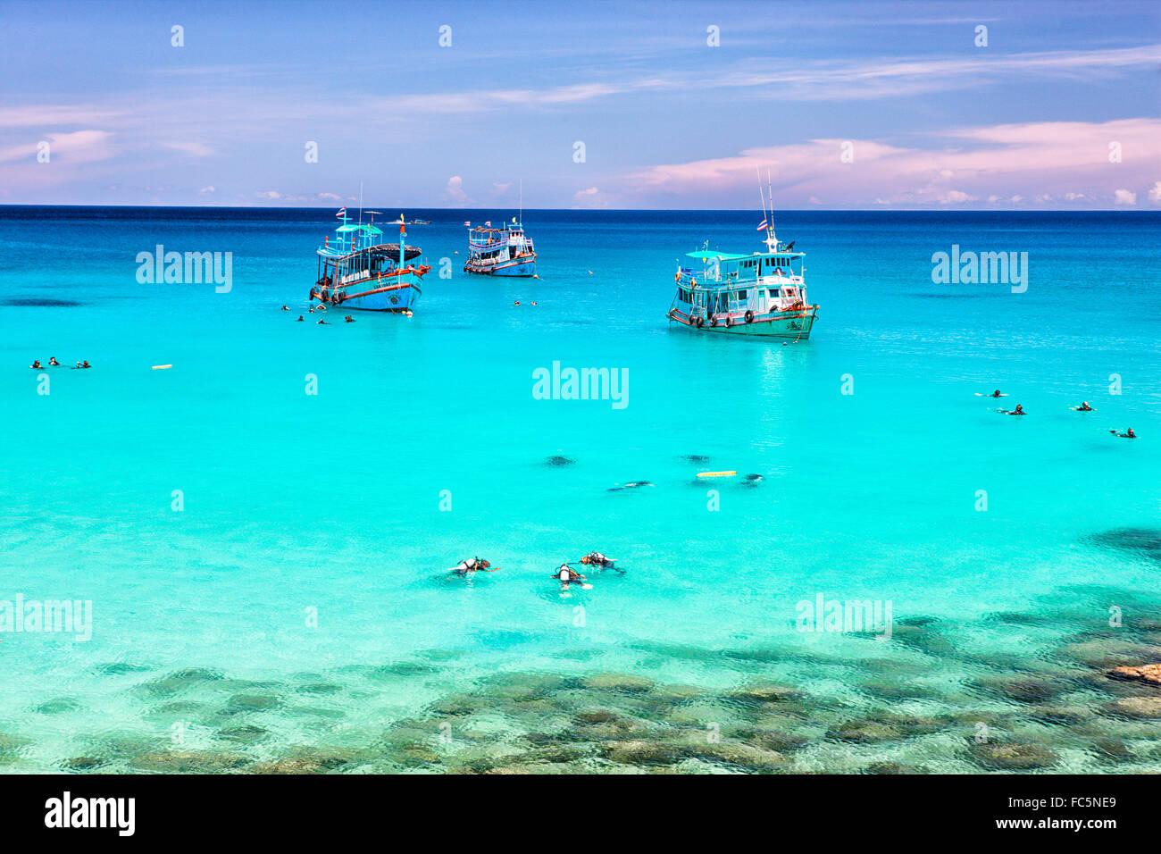 Aow Leuk; Koh Tao island; Surat Thani Province; Gulf thailand; South China Sea - Stock Image