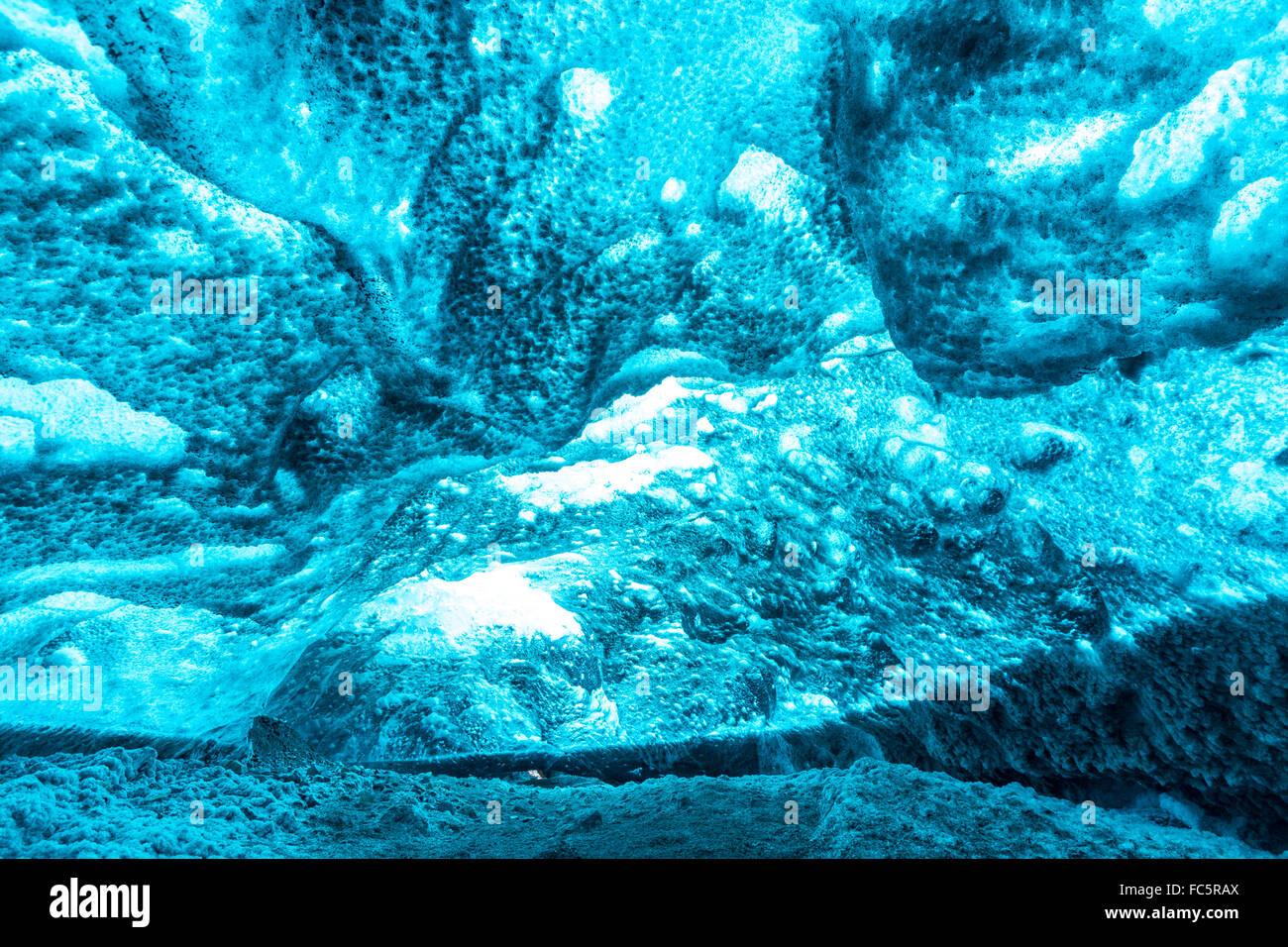 Ice Cave Iceland - Stock Image