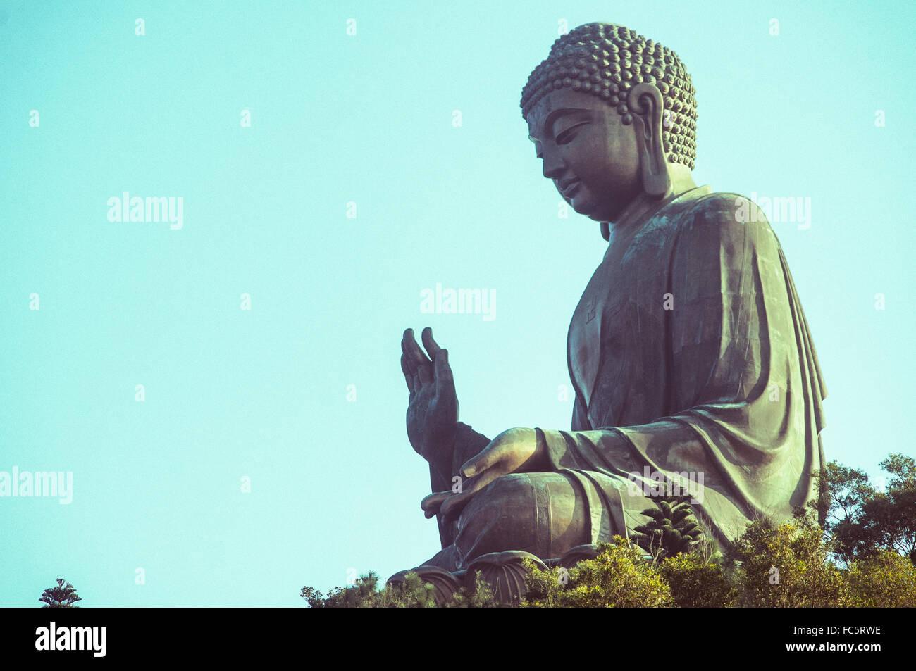tian tan buddha in lantau island - Stock Image