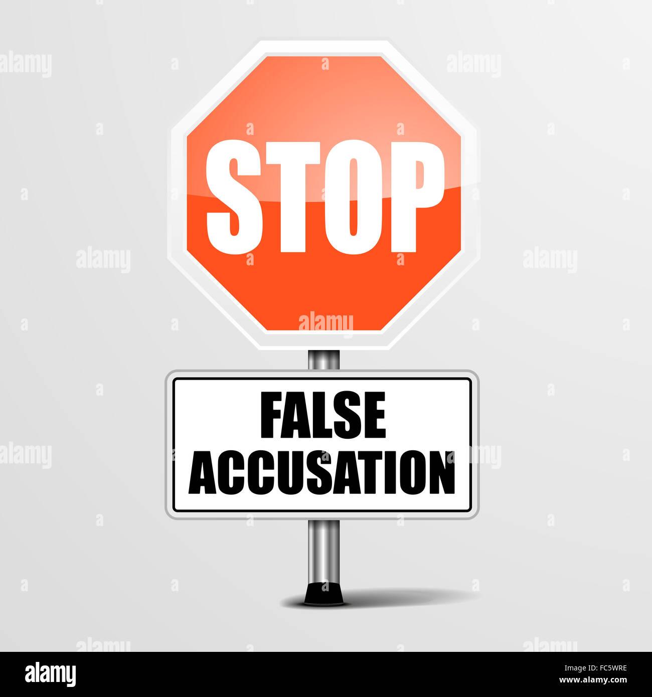 Stop False Accusation - Stock Image