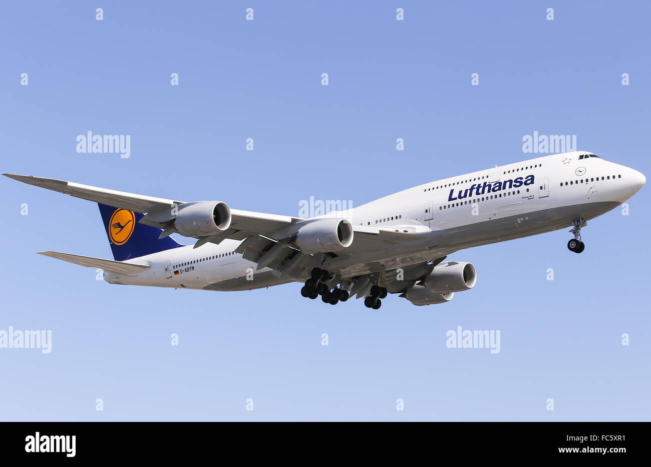 Lufthansa 747-8 - Stock Image