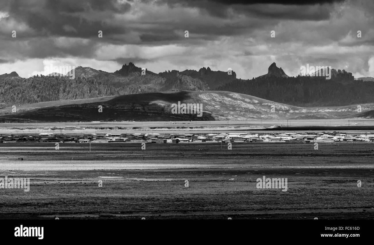 Peruvian highlands in the Pasco department. - Stock Image