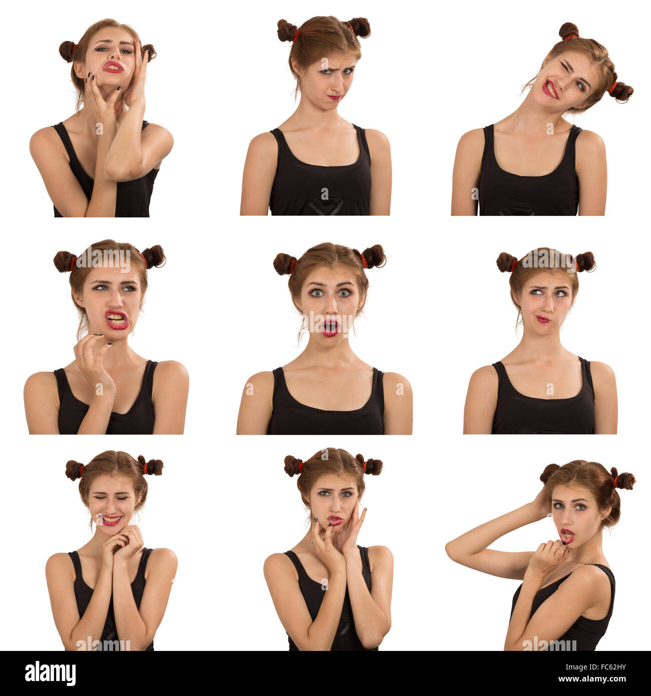 face expressions - Stock Image