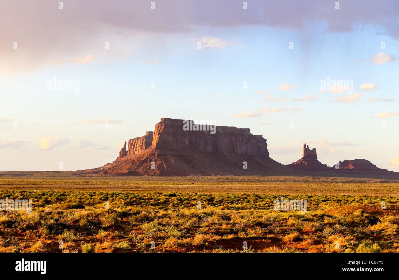 Eagle Mesa in Monument Valley - Stock Image