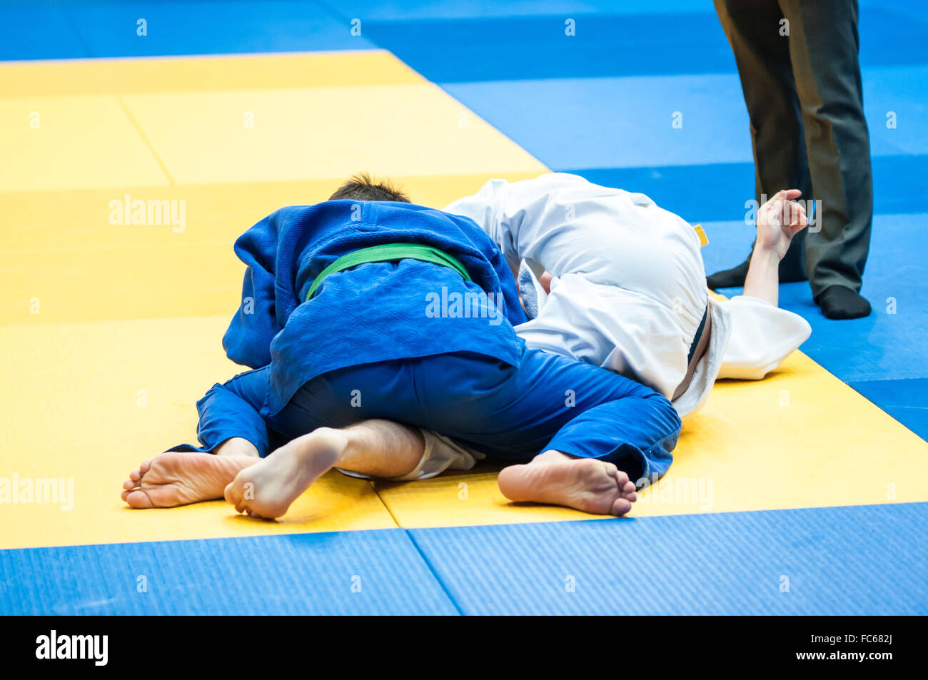 The youths involved in Judo - Stock Image