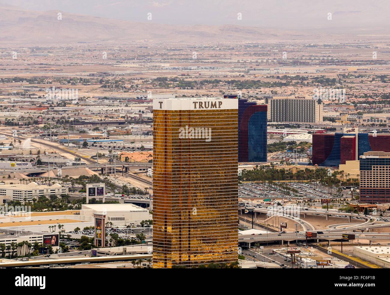 Trump Hotel in Las Vegas Stock Photo