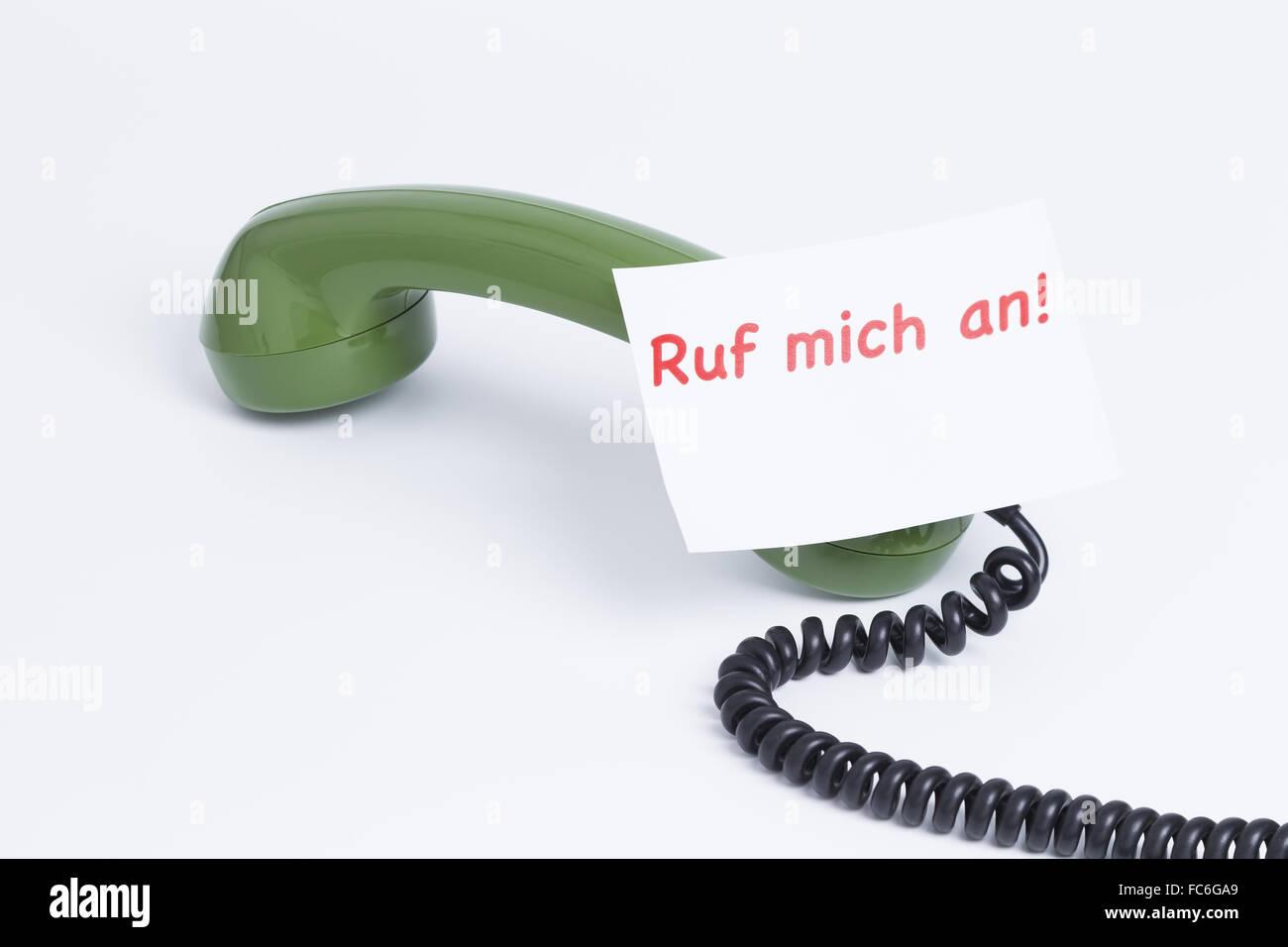 Telephone earphone - Stock Image