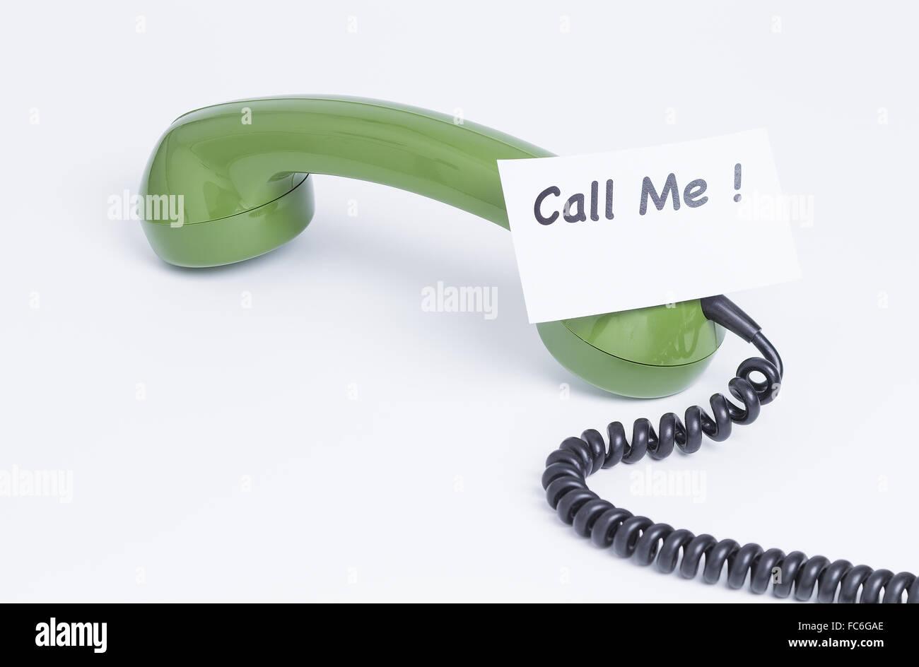 Call me - Stock Image
