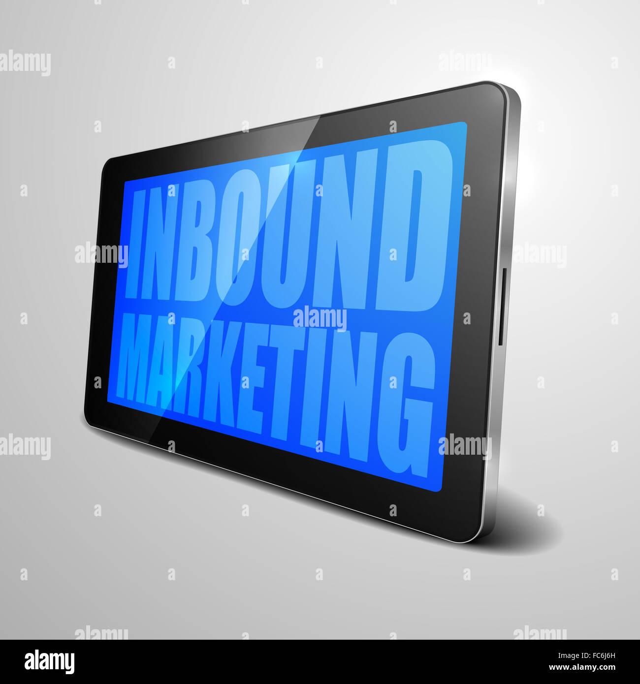 tablet Inbound Marketing - Stock Image