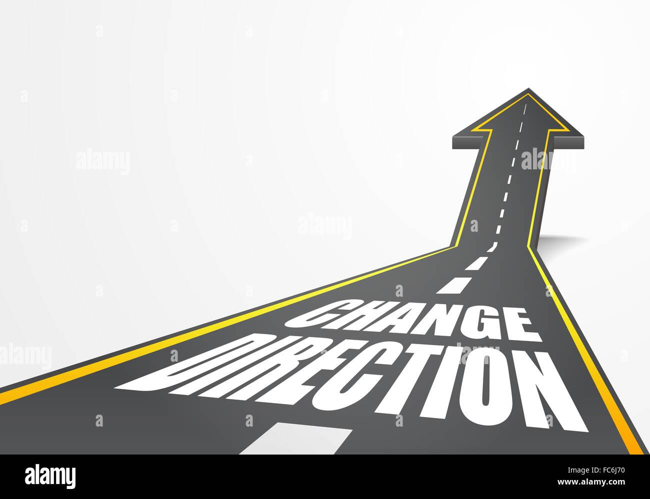 road Change Direction - Stock Image
