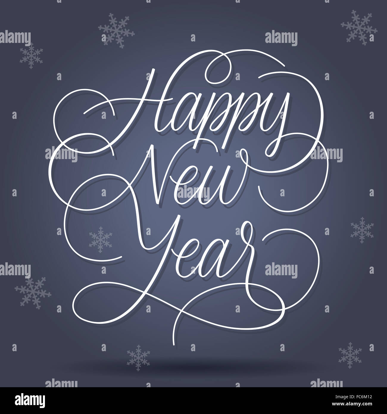 Happy New Year Greetings - Stock Image