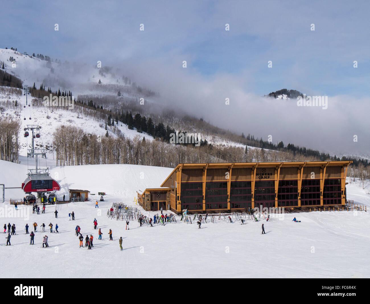 Miners Camp lodge and restaurant, Park City Mountain Resort, Utah. - Stock Image