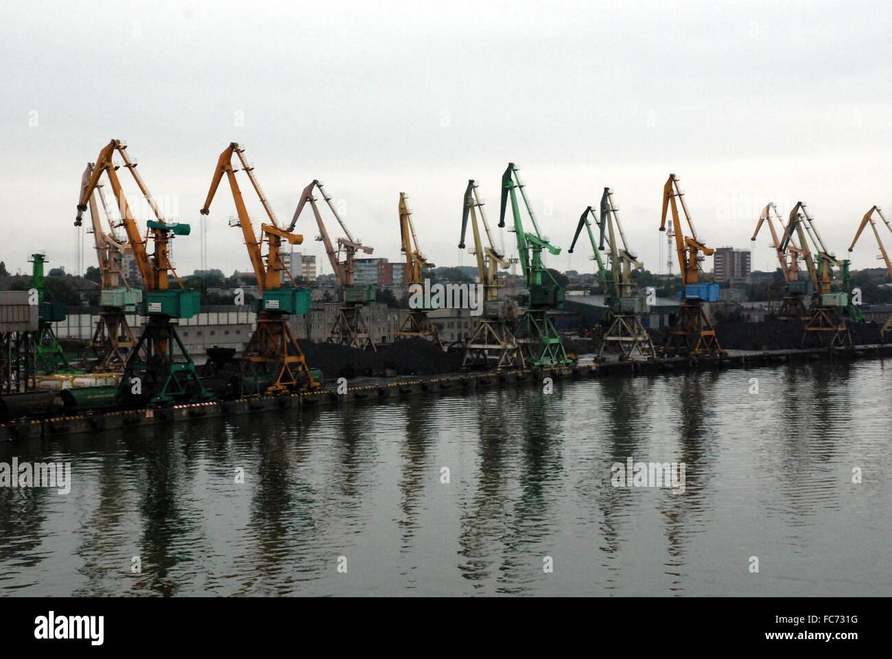 dockside cranes - Stock Image
