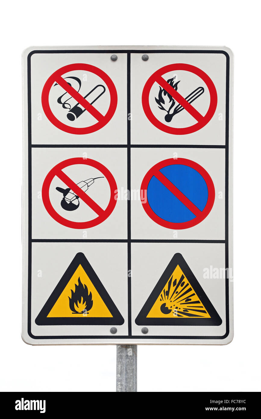 Flammable Warning Sign - Stock Image