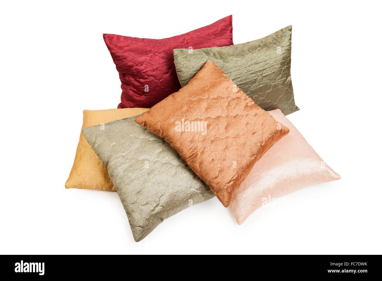 Pillow or cushion heap - Stock Image
