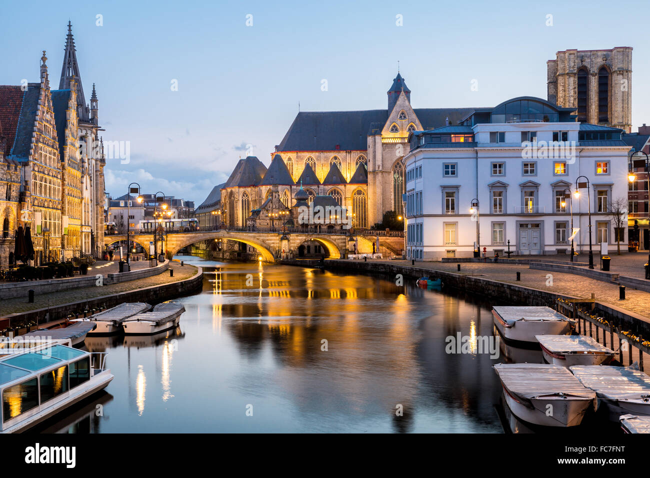 Ghent Old town Belgium - Stock Image