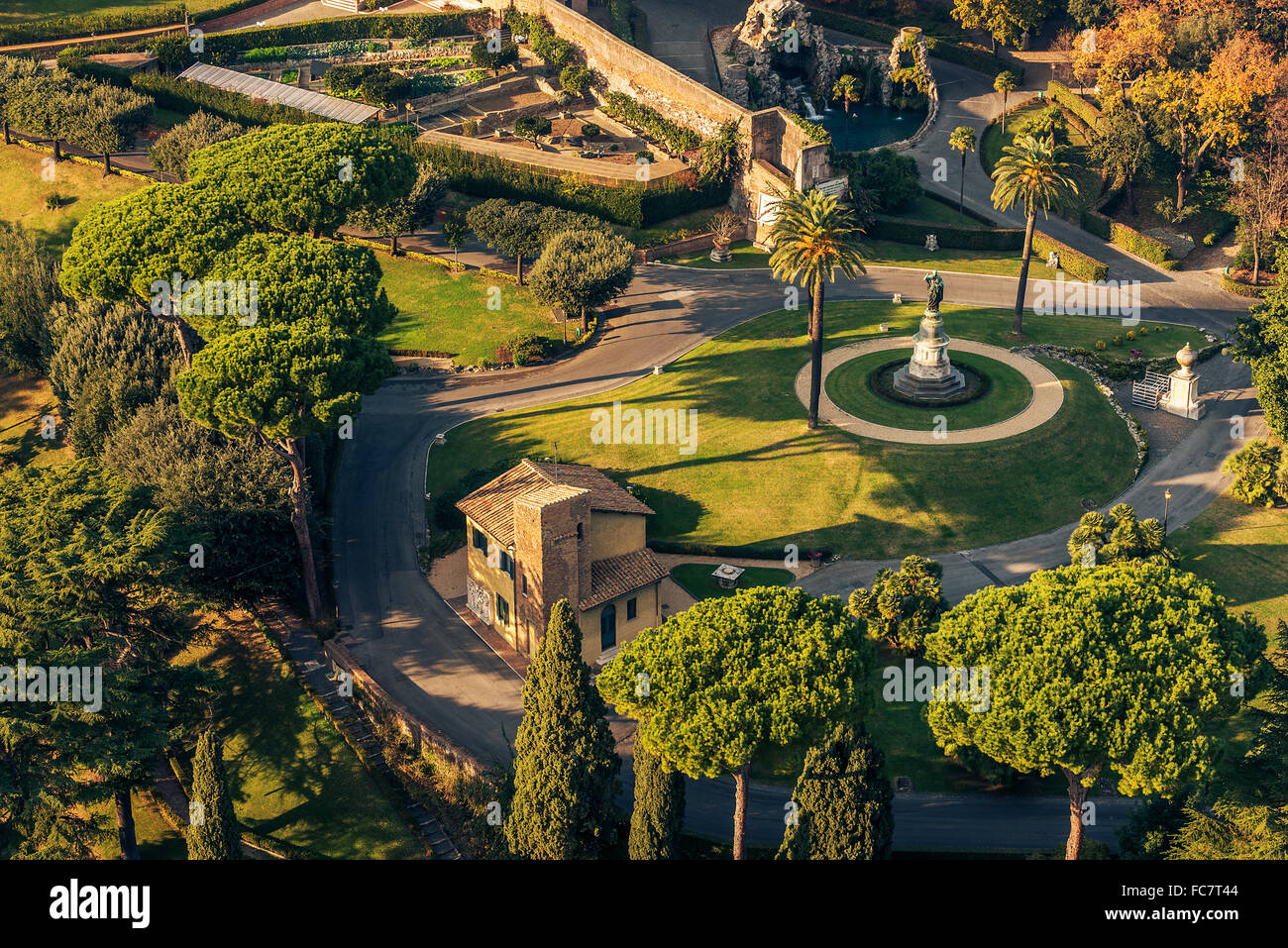 Rome, Italy: Gardens of Vatican City State - Stock Image