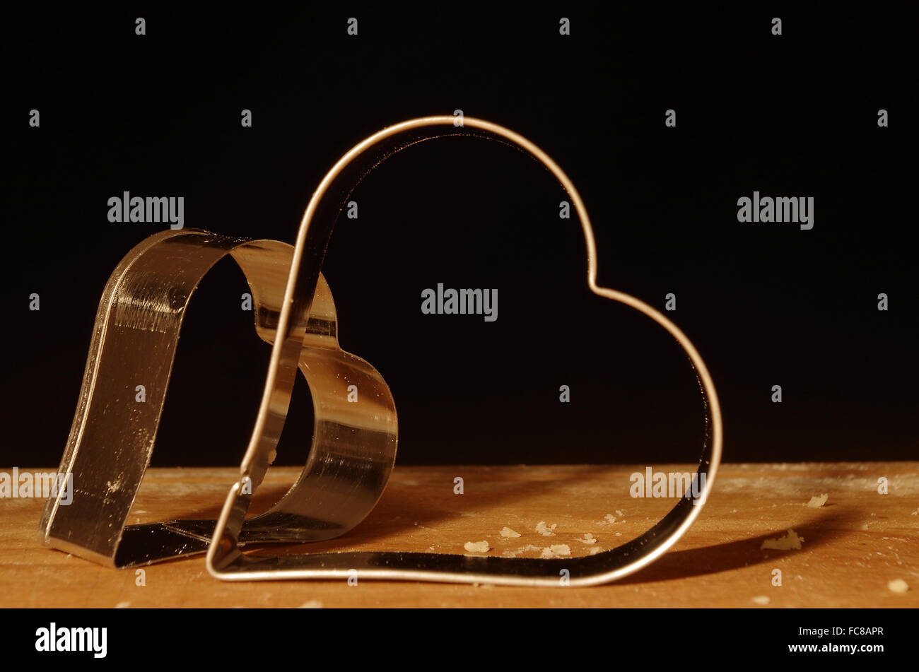 cookie cutters heart - Stock Image